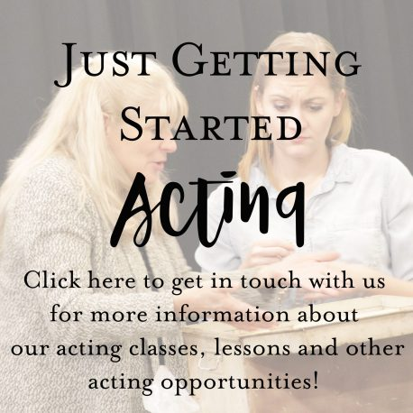 just getting started acting